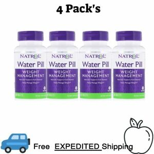 4 Pack's Natrol, Water Pill, 60 Tablets Weight Management Naturally Supports