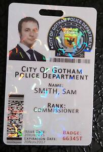 Gotham City Police Department Batman Novedad identificación Tarjeta-Totalmente Personalizable