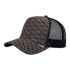 Djinns HFT Trucker Cap Rubber Tweed Khaki Kappe Mütze Mesh Verstellbar