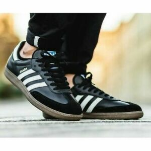 SZ-11-adidas-Originals-Men-039-s-ICONIC-SAMBA-OG-SNEAKERS-G17100-BLACK-LAST1