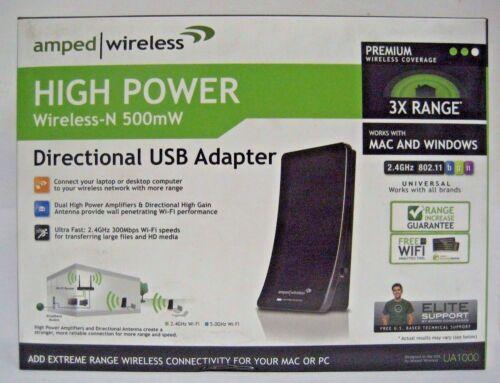 UA1000 Amped Wireless High Power Wireless-N 500mW Directional USB Adapter
