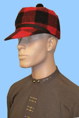NEW MENS GREEN-BLACK STOCKMAN-SCOTCH HAT CAP-STORM EARBAND-24 inch-Wool Blend