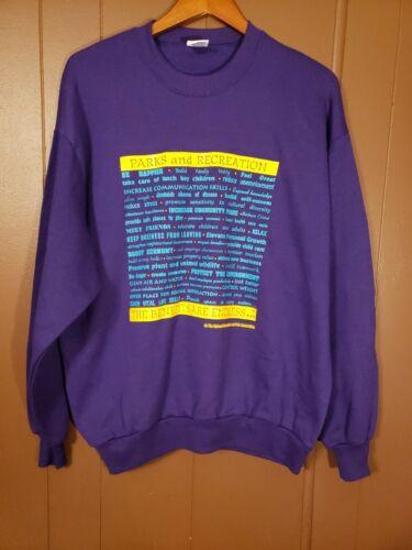 PARKS and RECREATION   SWEATSHIRT - purple Size XL