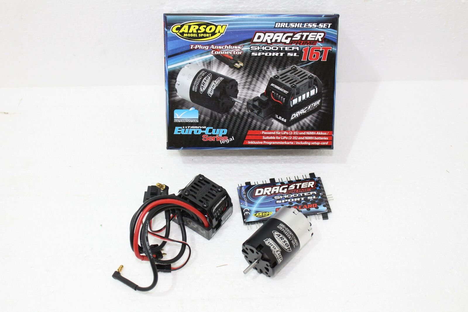 Carson 500906165 Brushless Combo 16t DRAGSTER Prime Water Resistant