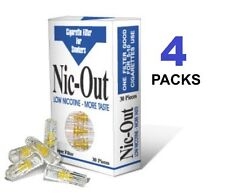 NIC OUT 4Packs Cigarette Filters 120 Tips Filter Out Tar & Nicotine