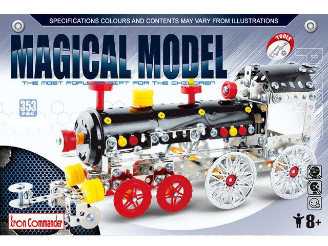 Iron Commander Metall Baukasten Magisch Modell - Dampfzug - 353 St.