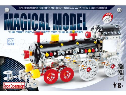 Iron Commander Metal Construction Kit Magical Model Steam Train 353 Pcs