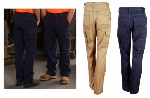 NEW MENS WOMENS CORDURA SEMIFITTED CORDURA WORK PANTS 100% COTTON DURABLE PANTS