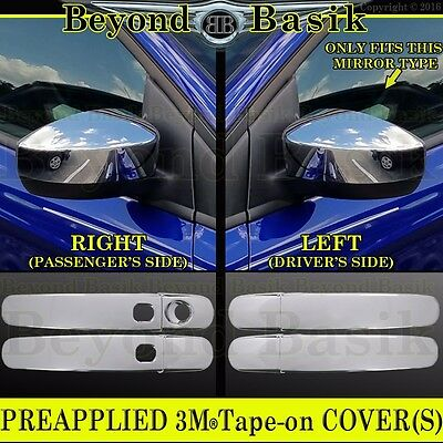 FOR FORD FOCUS//ESCAPE 13-14 CHROME MIRROR COVER W// SIGNAL /& 4 DOOR HANDLE COVER