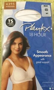 Playtex 18 Hour All Around Smoothing Wire Free Bra Size 40