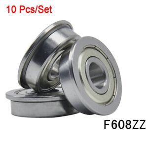 8mm shaft 3D Printer Flanged F608ZZ Bearing CNC Reprap Flanged 608zz