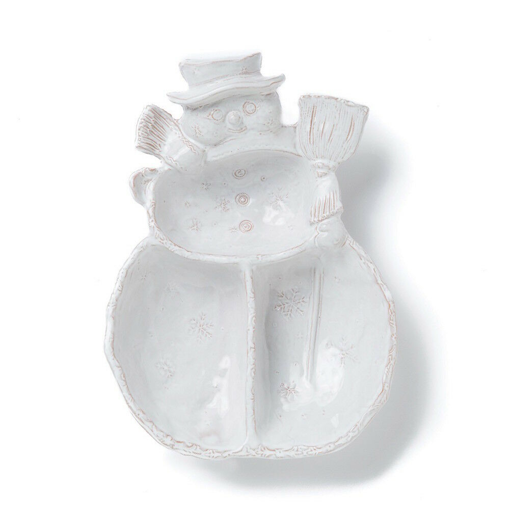 Vietri - Bellezza Holiday - Divided Serving Platter - Snowman