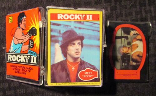 1979 ROCKY II Trading Cards LOT of 99 Cards 22 Stickers & 1 Wrapper VF to NM