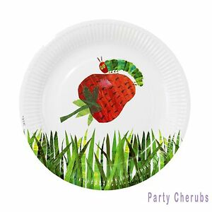 Image is loading The-Very-Hungry-Caterpillar-Paper-Plates-x-12-  sc 1 st  eBay & The Very Hungry Caterpillar Paper Plates x 12 - Boy or Girl Birthday ...