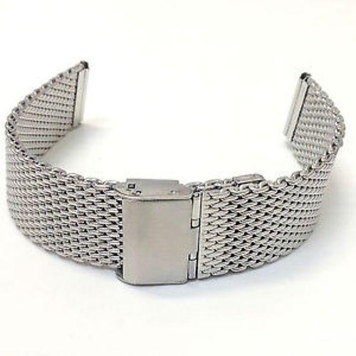 ds Cinturino Maglia Milano Universale Ricambio Orologio Larg 22mm Silver lac