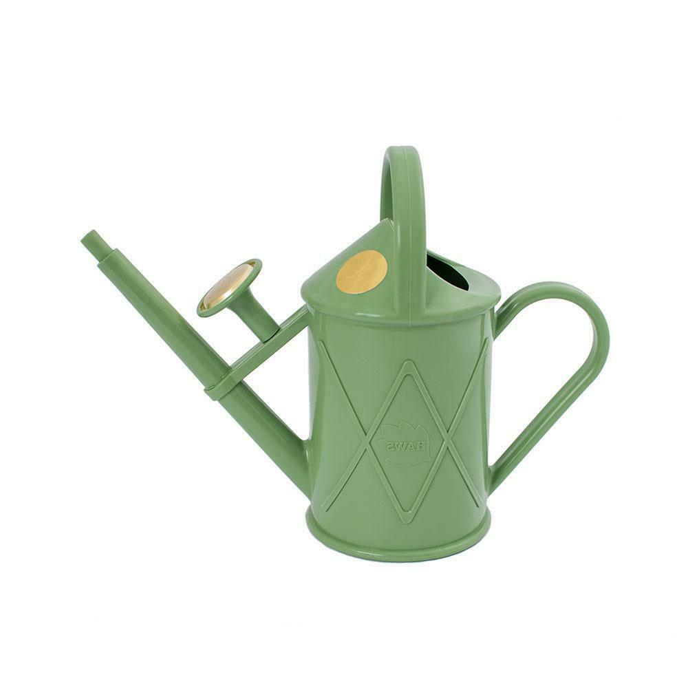 1L Haws Handy Indoor House Plant Plastic Watering Can Fine Spray Sage Green