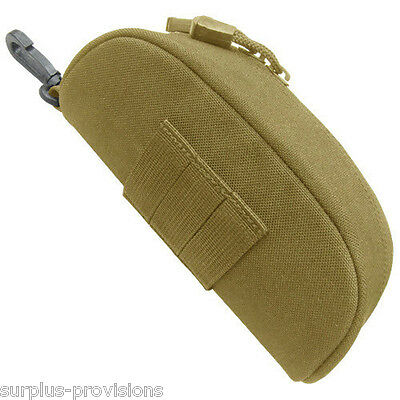Condor Sun Glasses Case molle pouch Tan - Padded with rigid exterior #217