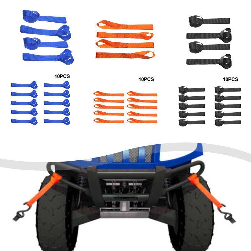 10 Stück Mehrzweck-Motorrad Zurrgurt Soft Strap Loops für Auto LenkerP2a