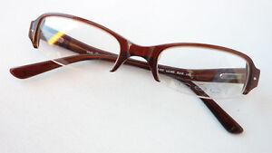 Streng Brillen-fassung Brille Für Damen In Braun Halbrand Plastik Preiswert Grösse M Rheuma Lindern Brillenfassungen
