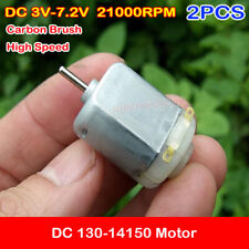 2PCS DC 3V-6V 34000RPM High Speed 1025 Mini 10mm Round Cylindrical Motor DIY Toy