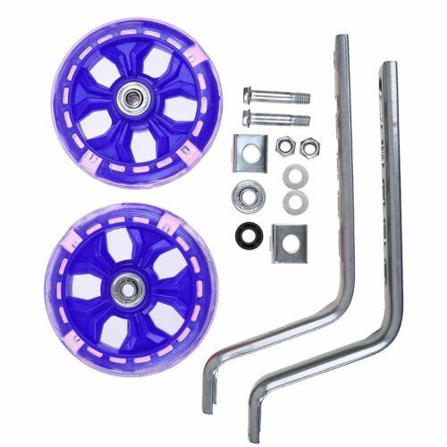 "1pair Universal Bike Stabilisers LED Flashing Kids Training Wheel 12-20/"" Cycle"
