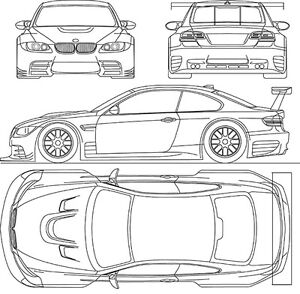Details about 2009 BMW-M3-GTR - Blueprint Poster