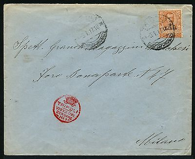 Italienisch-libyen Libya 1917 Brief Ef 20 Cent Zensur Censor Tripoli Mailand/16