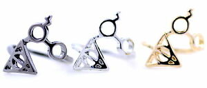 Harry-Potter-lightning-scar-glasses-deathly-hallows-triangle-ring-multi-colors