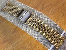 Jubilee Style Gold Tone 16mm-22mm Stainless Steel Metal Watch Bracelet Band-New