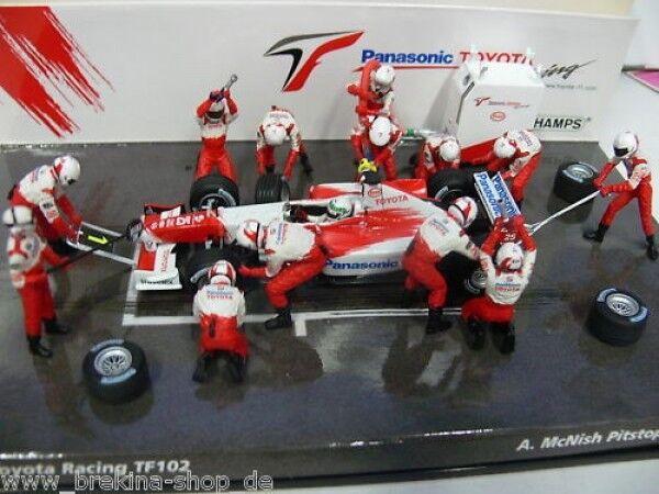 1 43 Minichamps Toyota Racing tf102 mcnish Pitstop dio. 100065
