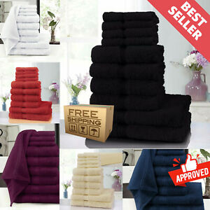 Pure-100-Egyptian-Cotton-Bath-Towels-Sheet-Set-of-10-Bale-Sets-Bathroom-Towel