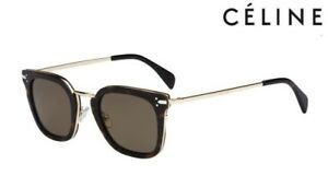 9ea5b8b0fe2ce CÉLINE Sunglasses CL 41402 S VIC (ANTX7) Dark Havana   Gold ...