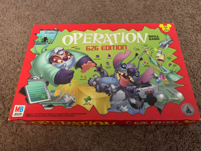 Disney Operation 626 Edition Stitch Theme Park Exclusive Game Rare COMPLETE!!