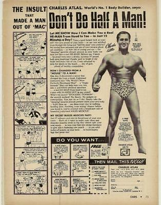 Original 1970 Charles Atlas Ad// Don/'t be Half a Man Very vintage look