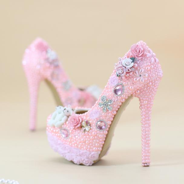 Granos de de de diamante de imitación de lujo para Mujer Zapatos De Taco Alto Zapatos 14cm bombas de fiesta nupcial  hasta un 50% de descuento