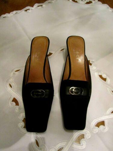 Gucci Classic Black  Suede Leather Square Toe/Back