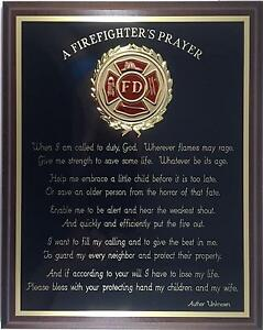 Personalized Fire Fighter Plaque