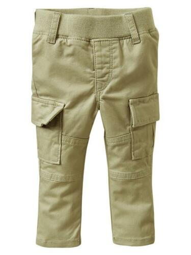 NWT BABY GAP GIRL/'S GREEN PULL-ON CARGO SKINNY PANTS 97/% COTTON 3/% LYCRA
