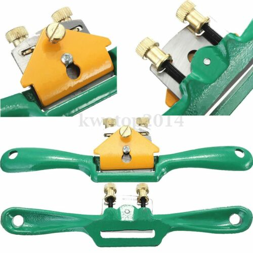 "8.5"" inch 44mm Adjustable Metal Wood Flat Spokeshave Plane Hand Tool Woodworking"