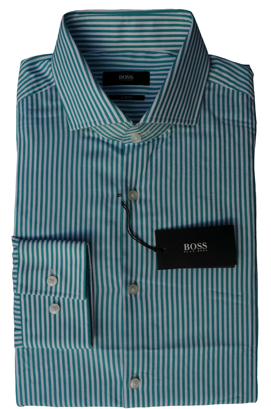 NEU gr. 40 HUGO BOSS JJASON HEMD SLIM FIT OPEN-Grün zu Jeans 50331285 | Stilvoll und lustig