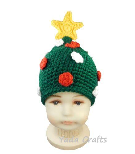 baby shower gift,Photo prop Crochet Newborn Christmas tree Hat,newborn,Elf hat
