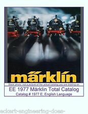 EE 1977 E VG Marklin Total Catalog Catalogue 1977 Very Good Cond w Price Sheet