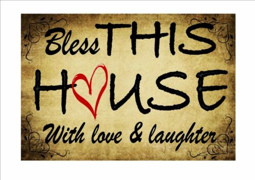 Welcome Sign Bless this house sign Home Sweet home Sign Kitchen Sign Bar Sign