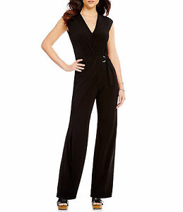 4fa61173ddb NWT  140 Michael Kors Wrap Front Wide Leg Jumpsuit Black or Navy