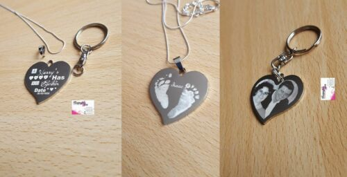 Pendent Photo Engraved  Love Has No Expiration Date Gift personalized Keyring