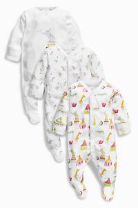 Вnwt Next Baby Combishort Outfit * Bright Circus Print Grenouillères Coton * 3-6 M-afficher Le Titre D'origine