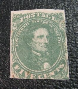 nystamps US CSA Confederate Stamp # 1b Mint OG H $375