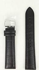 Seiko Black Leather Calf E 20mm Watch Strap SUR009 Watchband 6N76 00A0 7T92 7N42