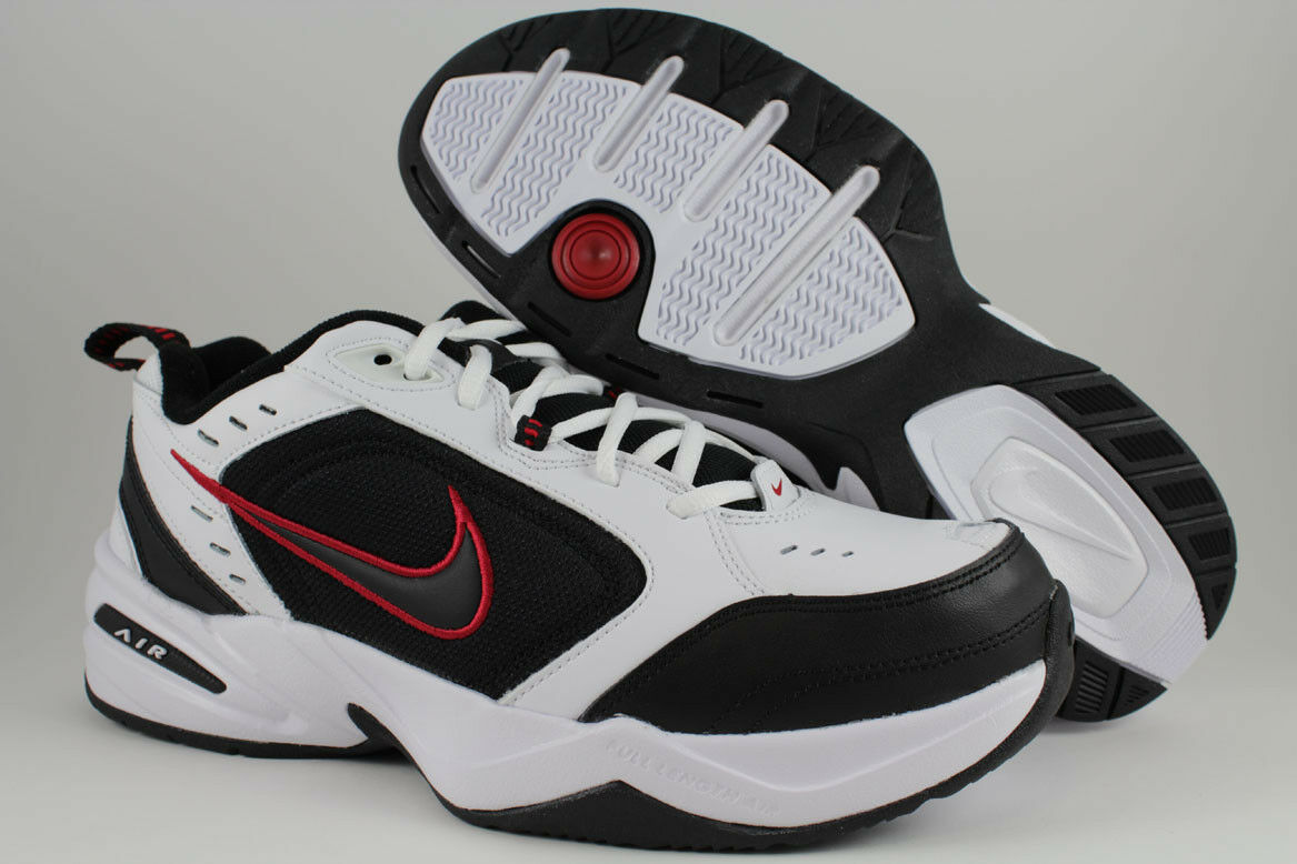 NIKE AIR MONARCH IV 4 EXTRA WIDE 4E EEEE WHITE BLACK RED CROSS TRAINER MEN SIZES