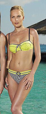 Beach Bandeau-Bikini mit Bügel Gr. 40D von OLYMPIA! NEU! Schwarz, Weiss, Gelb.